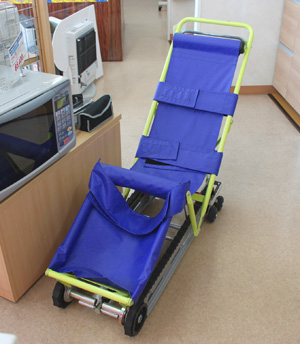 地震・火災などの災害時用の車椅子?