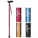 シリコングリップステッキは彫り込み加工が高級感のある伸縮杖