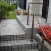 屋外用手すりの設置で、階段の昇り降りをサポート!転倒も防止します。