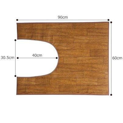 木目調トイレ用マットのサイズ