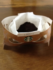 STARBACKS COFFEE ORIGAMIを開けたところ