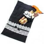 日本製にこだわった、折りたたみ杖用巾着ポーチ(おそろいシュシュ付き)