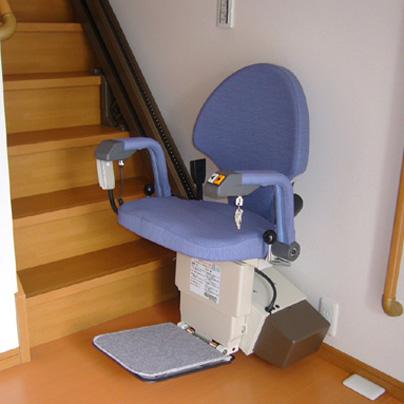 階段昇降機の設置事例