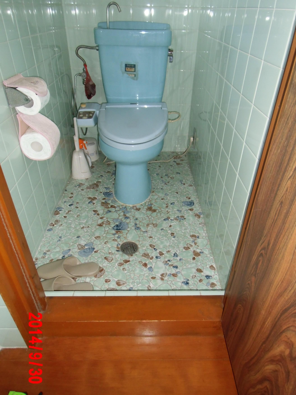 トイレの敷居段差の解消