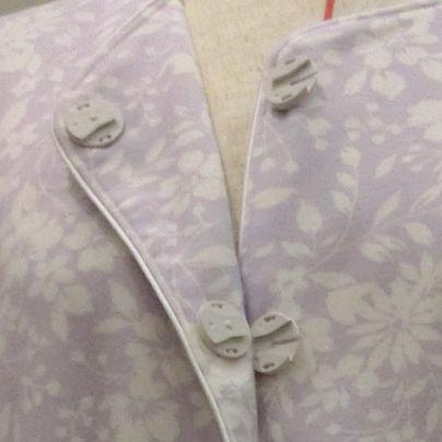 スライド式ボタンをパジャマにつけたところ