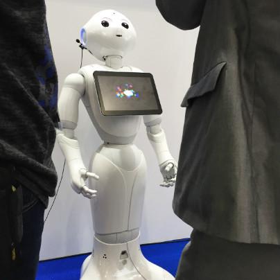 ロボットのペッパーが説明してるところ