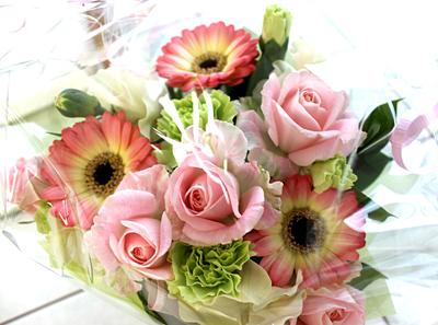 お花をいただきました^^
