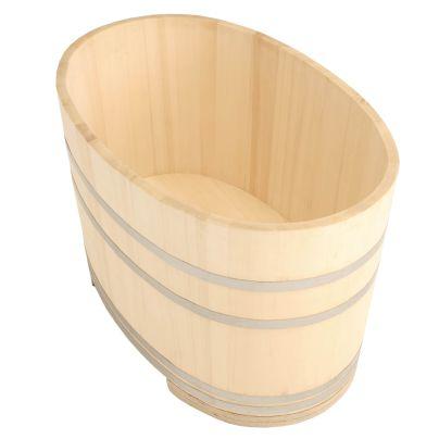 小判形の木製浴槽
