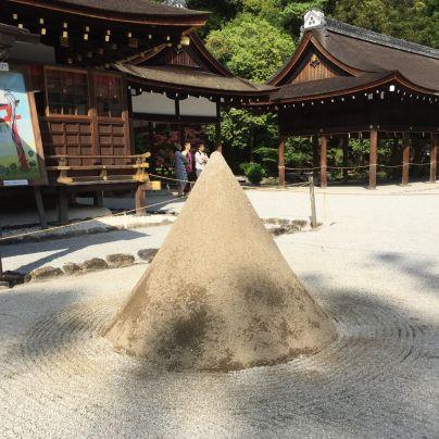 円錐形の盛砂