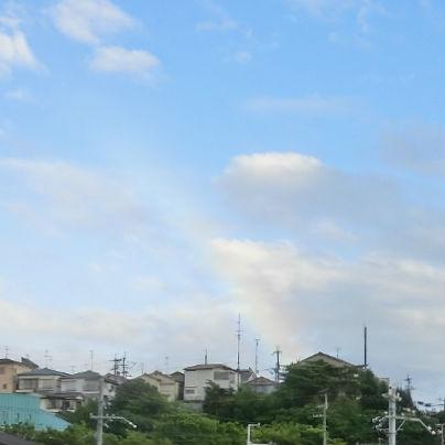待兼山に虹