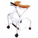 歩くことをあきらめない歩行器・たぁーくんは立ち座りを補助します。