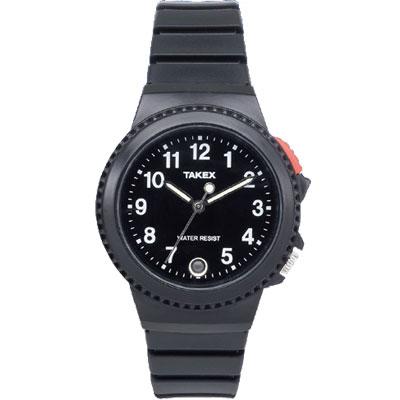 腕時計式の緊急呼び出し装置の文字盤が黒色タイプ