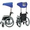 直射日光を遮ります。車椅子用折りたたみ傘 涼風