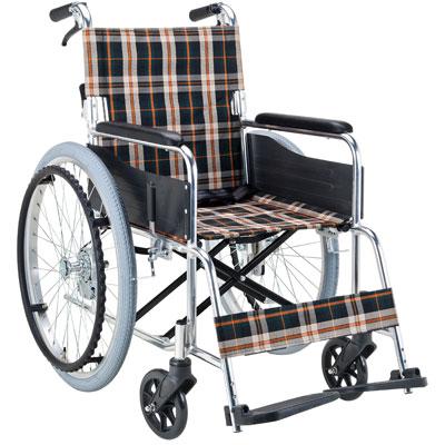 アルミ製自走用車椅子 背折りたたみ EX-50GB