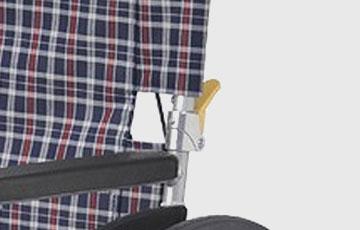 車いすの背折れ機能