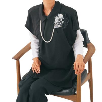 婦人ブラックエプロン ドレス風 フォーマル