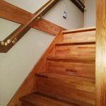 介護住宅改修:屋内階段手すりの取り付け
