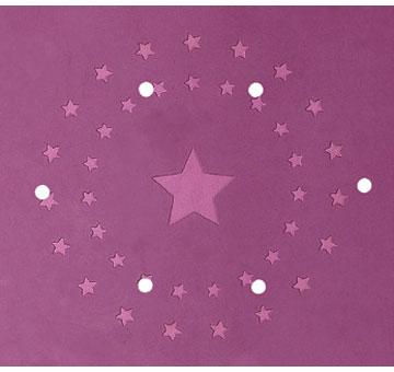 表面の凹凸はかわいらしい星形