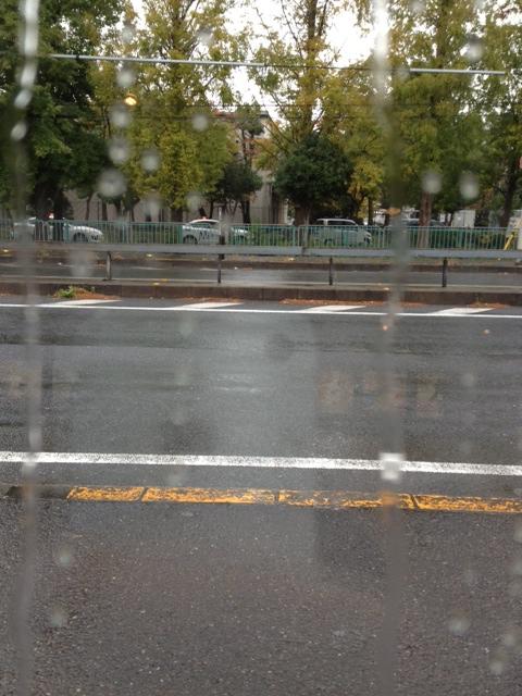 きょうは雨