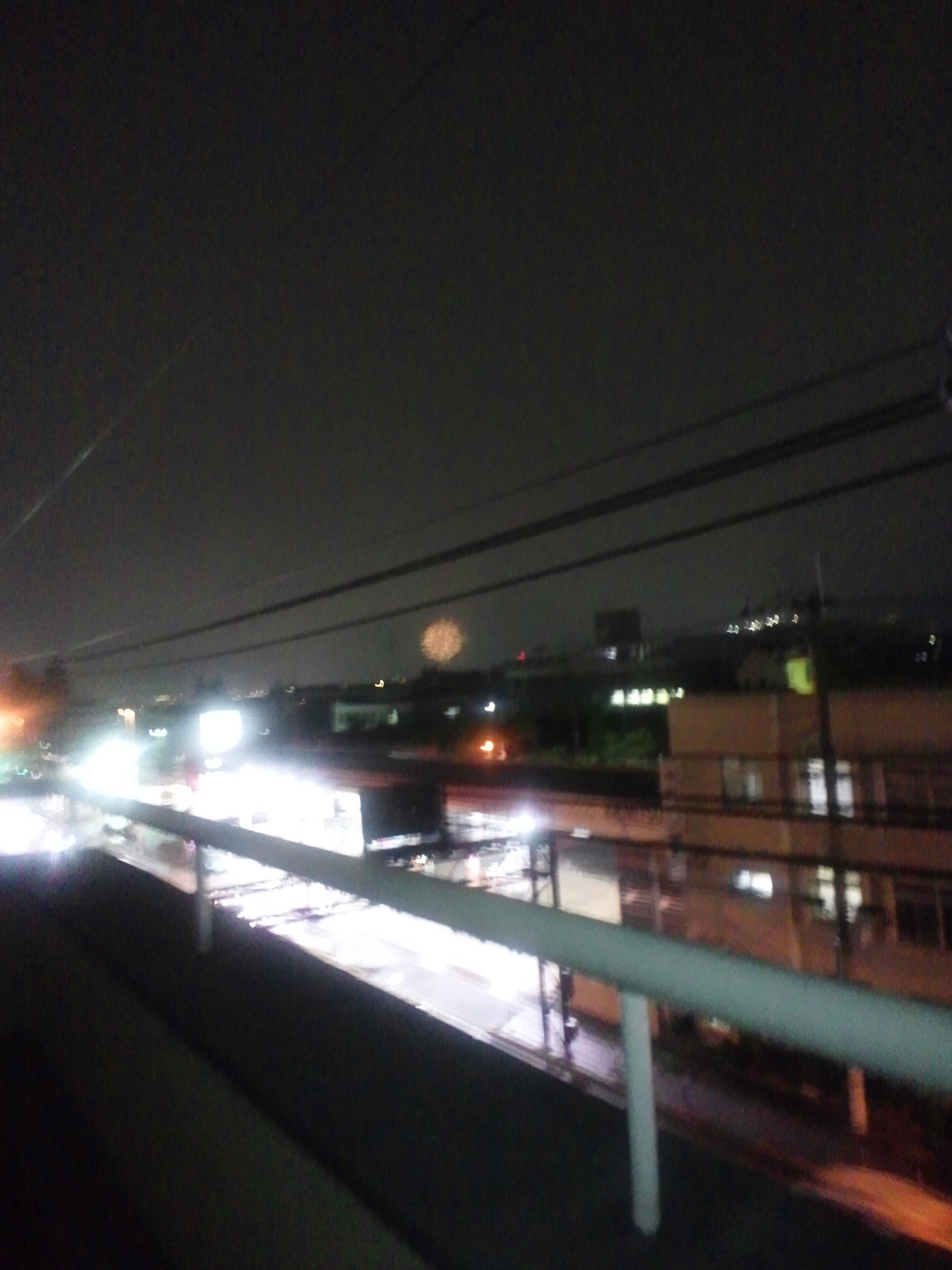 雨の猪名川花火大会