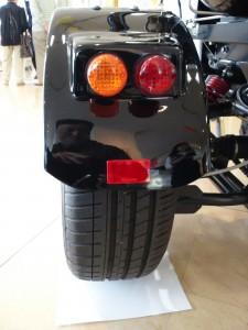 TOTOトイレバイクネオの左リアタイヤ
