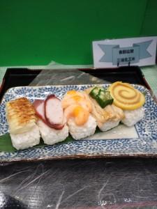 介護食品のお寿司、鮹も柔らかくなっています