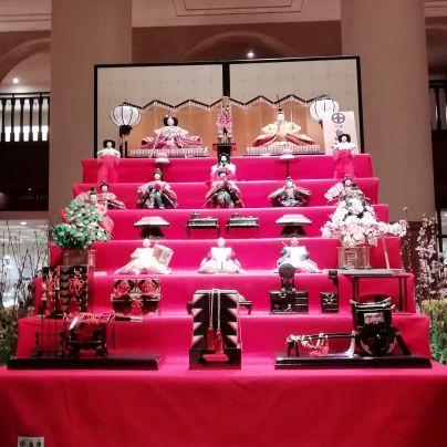 ホテルオークラ京都で見かけた雛飾り