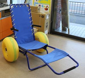 ビーチで使える車椅子。