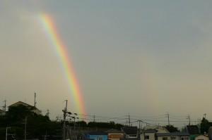 待兼山にかかる虹。その2