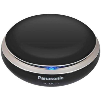 黒い円盤状で灰皿にも見えそうなスピーカー