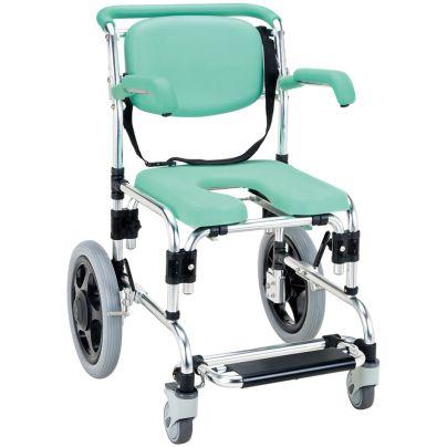 らくらく浴用キャリー 肘掛はねあげ式 YC-70GR  シャワーキャリー・お風呂用車椅子
