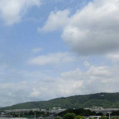 台風一過の五月山