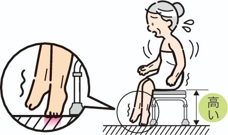 座面の高いシャワーベンチ