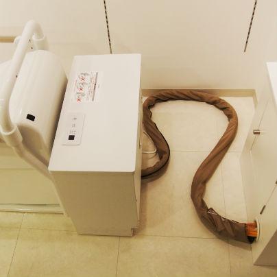 TOTO ベッドサイド水洗トイレ EWRS310の排水部分