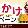 秋のおでかけ応援キャンペーン開催中!10月29日まで